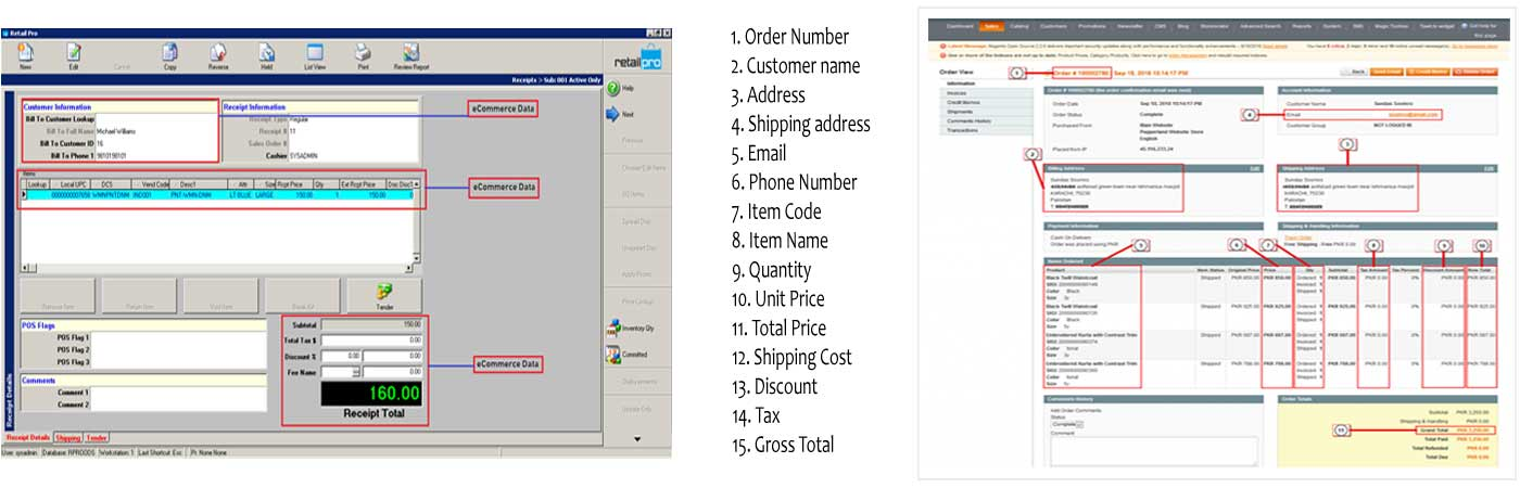 Download Magento Order Information into Retail Pro POS