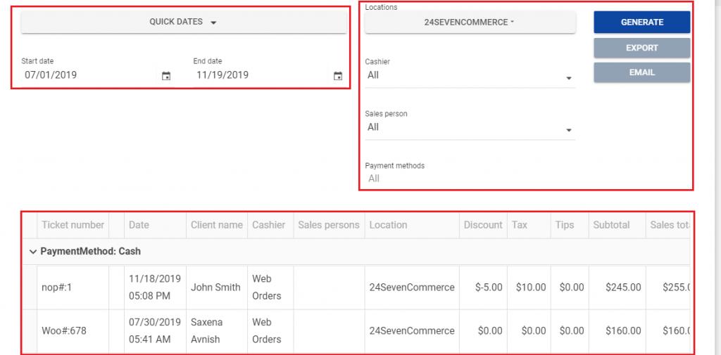 Download Web Order information to FranPOS